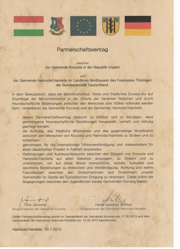 2013 Partnerschatsvertrag